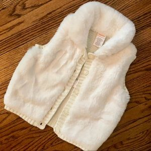 Gymboree Furry Vest 18-24 Month